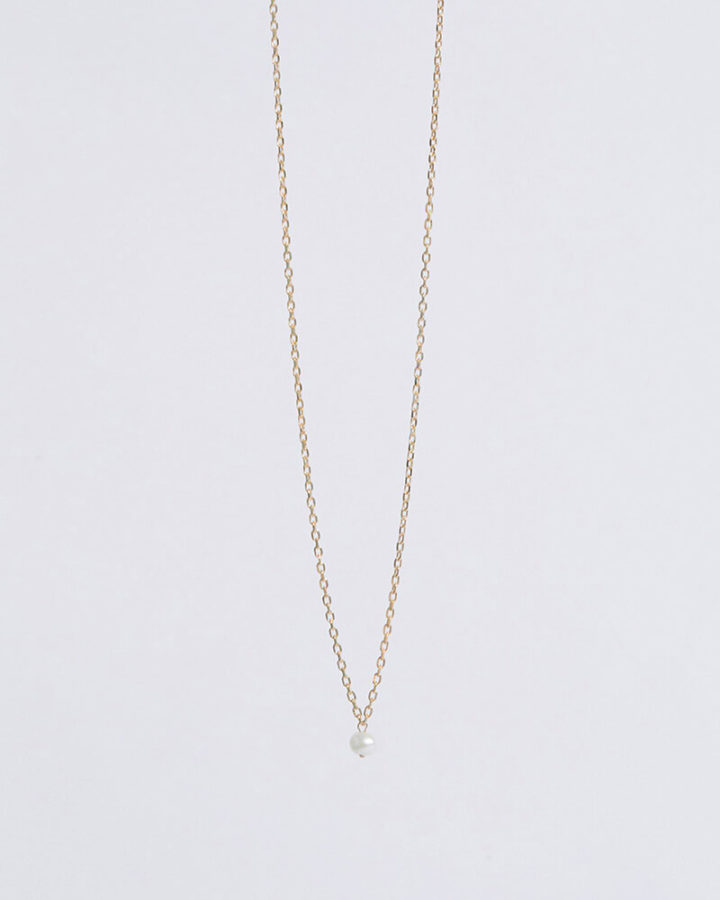 GOLD MONO PEARL NECKLACE
