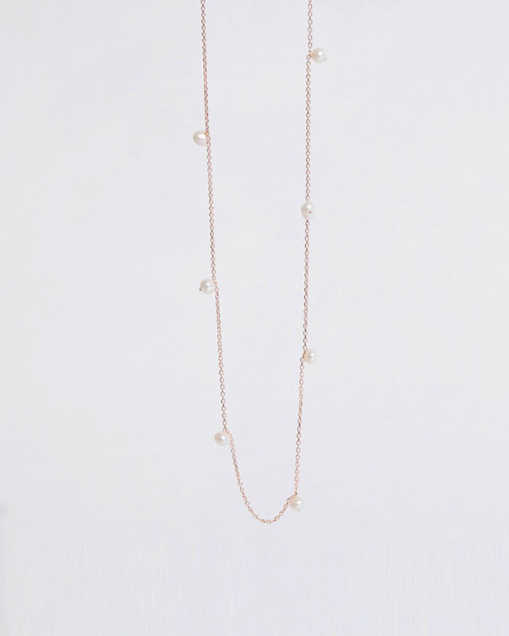 ROSEGOLD MULTI PEARL NECKLACE